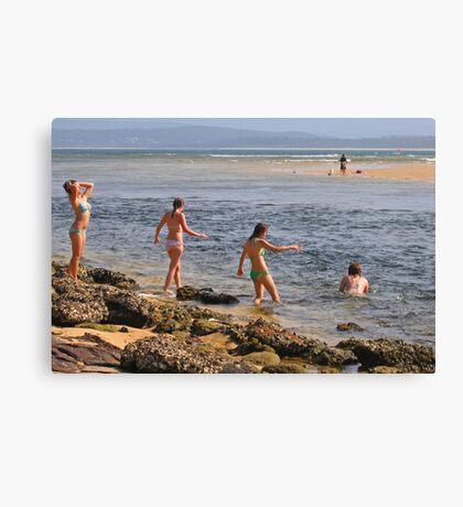 Beach Babes at Merimbula Canvas Print