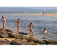 Beach Babes at Merimbula Photographic Print
