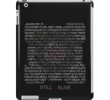 Still Alive Lyrics Companion Cube iPad Case/Skin