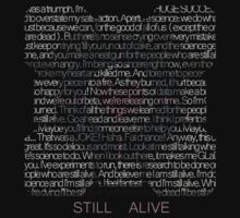 Still Alive Lyrics Companion Cube by TheIronicTurtle