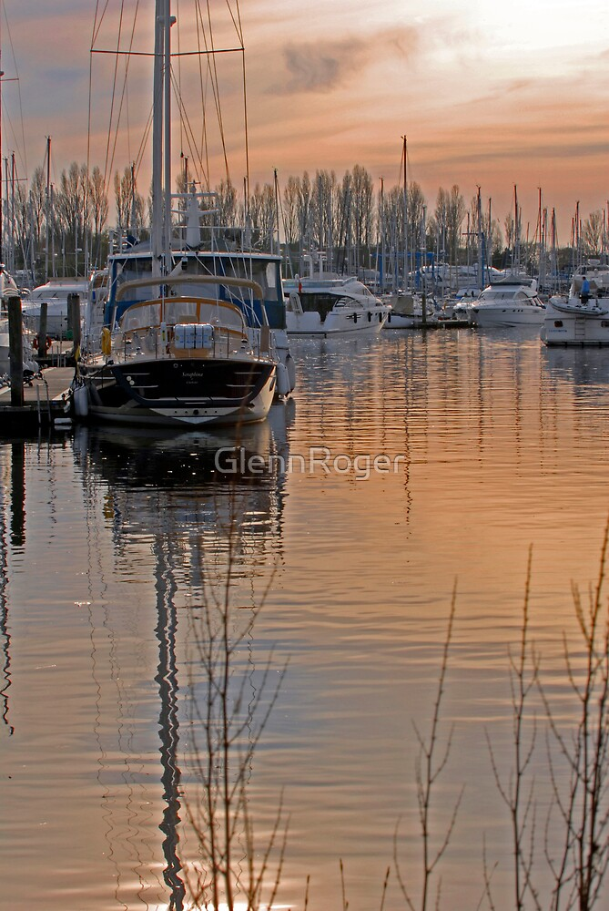 Sunset on Chichester marina by GlennRoger