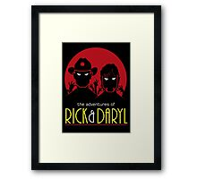 The adventures of Rick and Daryl Framed Print