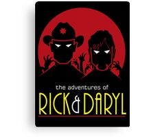 The adventures of Rick and Daryl Canvas Print