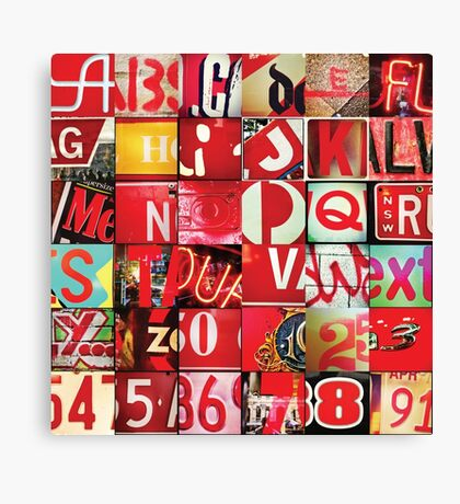 Instagram Alphabet Collection #5 Canvas Print