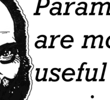 Paramedics Are More Useful Than Movie Stars Sticker