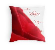Happy Valentine's Day Card Throw Pillow