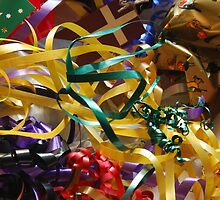 Christmas ribbons by Heather Thorsen
