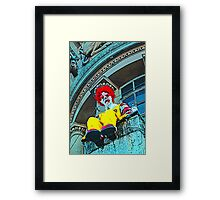 Suicidal clown! Framed Print