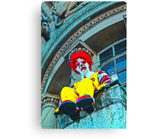 Suicidal clown! Canvas Print