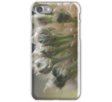 Flowerettes, Red Onion - macro iPhone Case/Skin