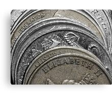 Stacked coins Canvas Print