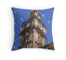 Melbourne City Clock Tower Throw Pillow
