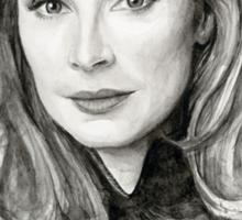 Doctor Beverly Crusher - Star Trek fan Art Sticker