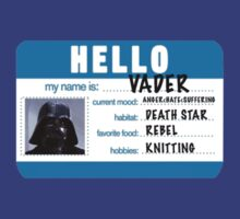 Hi My Name is VADER T-Shirt