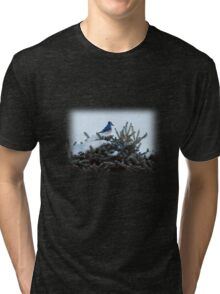 Bluebird & Fir Tree Tri-blend T-Shirt
