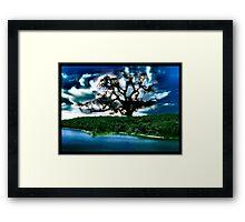 Magic Island Collaboration with Leah Highland Framed Print