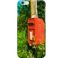 Overgrown Postbox iPhone Case/Skin