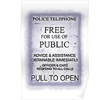 Police Telephone T-Shirt Poster