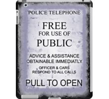 Police Telephone T-Shirt iPad Case/Skin