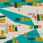 Mid-Century Modern Abstract Space Age by gailg1957