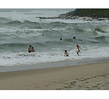 "A nice day for a swim.!""Come on in the waters fine"" Photographic Print"