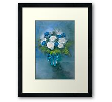 """Flowers From My Love"" Oil on Canvas by MiSook Kim Framed Print"