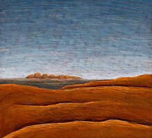 The Olgas from Ayers Rock 02 by Julian  Newman