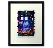Nebula Public call Box In Space iPhone Case Framed Print