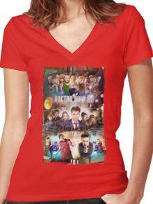 Tardis character T-Shirt Women's Fitted V-Neck T-Shirt