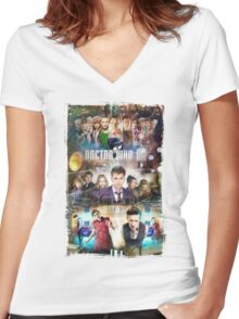 Tardis character T-Shirt Women's Fitted V-Neck T-Shirt