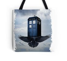 Police Call Box Flying with the Bird iPhone 6 Case Tote Bag