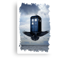 Police Call Box Flying with the Bird iPhone 6 Case Canvas Print