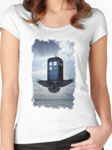 Police Call Box Flying with the Bird iPhone 6 Case Women's Fitted Scoop T-Shirt