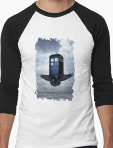 Police Call Box Flying with the Bird iPhone 6 Case Men's Baseball ¾ T-Shirt