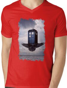 Police Call Box Flying with the Bird iPhone 6 Case Mens V-Neck T-Shirt
