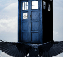 Police Call Box Flying with the Bird iPhone 6 Case Sticker