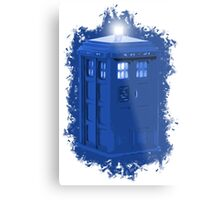 blue Box iPhone 6 plus case Metal Print