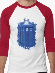 blue Box iPhone 6 plus case Men's Baseball ¾ T-Shirt