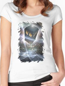 time lord blue box iPhone 6 plus cases Women's Fitted Scoop T-Shirt