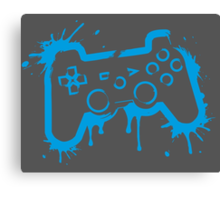Playstation Controller (Splatter) Canvas Print