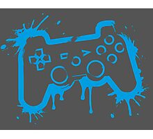 Playstation Controller (Splatter) Photographic Print