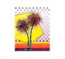 Spider Lilies, Colored Pencil Drawing Art Print