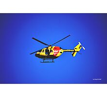 SURF RESCUE HELICOPTER Photographic Print
