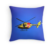SURF RESCUE HELICOPTER Throw Pillow