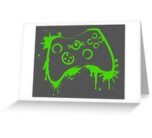 Xbox Controller (Splatter) Greeting Card