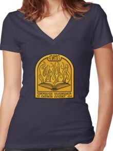 Fire Department 451 Women's Fitted V-Neck T-Shirt