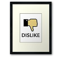 Dislike (Thumb Down) Framed Print