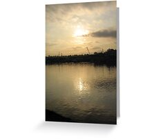 Glebe Point at Sun Down Greeting Card