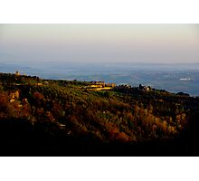 Tuscan evening Photographic Print