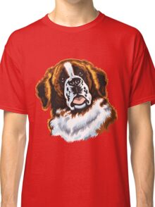 saint bernard head Classic T-Shirt